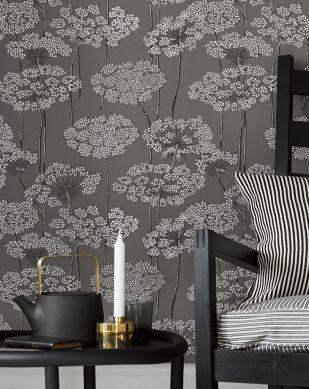 Papel pintado Esoka gris Ver habitación