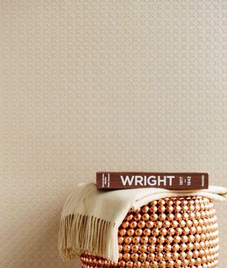 Wallpaper Korsal light brown beige Room View