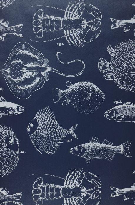 Tiermotiv Tapeten Tapete Oceano Dunkelblau Bahnbreite