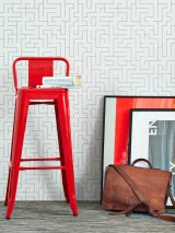 Wallpaper Algoa Matt Labyrinth Cream Umbra grey
