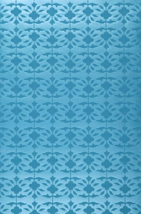 Archiv Wallpaper Luna turquoise blue Roll Width