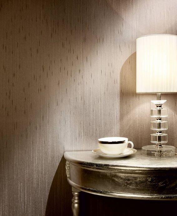 Papel pintado textil Papel pintado Warp Glamour 11 gris Ver habitación