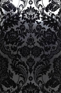 Papier peint Okina argenté lustre Largeur de lé
