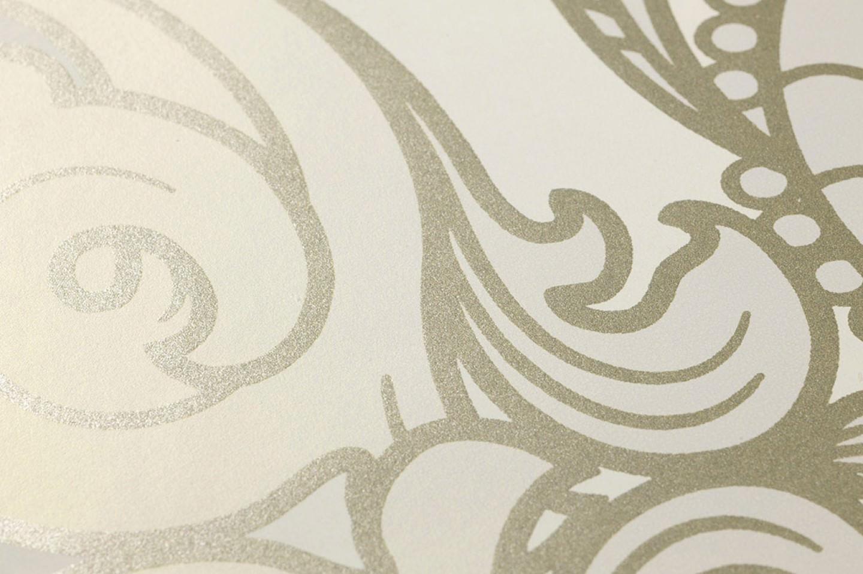 tapete lawal cremeweiss gold perlglanz grauweiss perlglanz weissgold schimmer tapeten der. Black Bedroom Furniture Sets. Home Design Ideas