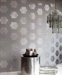 Wallpaper Nandi light grey