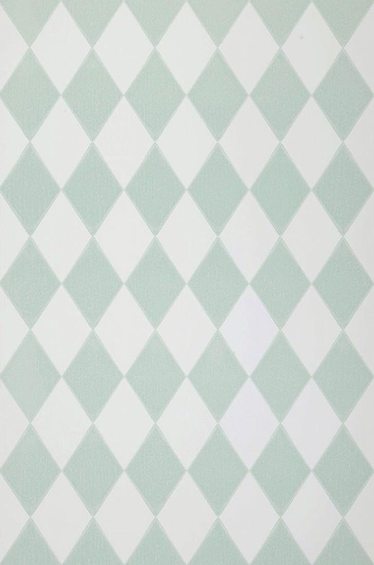 Harlequin blanc vert p le papier peint g om trique - Papiers peints des annees 70 ...