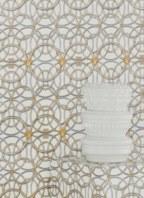 Versace Wallpaper Wallpaper Nara pearl gold Room View