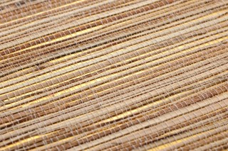 Papel pintado Grass on Roll 02 Patrón mate Superficie base brillante Unicolor Oro brillante Beige Marrón pálido