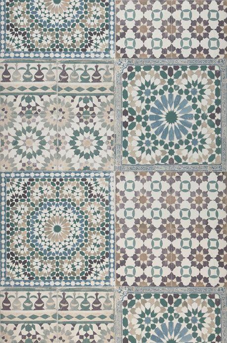 Archiv Wallpaper Azulejos grey brown Roll Width