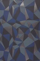 Papel pintado Wineg Mate Prismas Azul Azul grisáceo oscuro Azul grisáceo claro Gris plateado brillante
