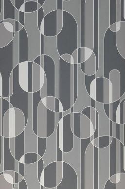 Papel pintado Asenio tonos de gris Ancho rollo