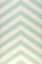 Wallpaper Zag zig Matt Zigzag Cream Pastel green