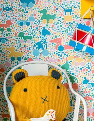 Papier peint Trilli multicolore Vue pièce