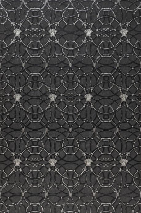 Versace Wallpaper Wallpaper Nara dark grey Roll Width