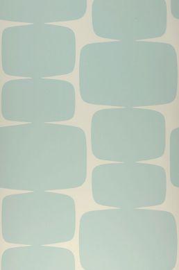 Wallpaper Waris light mint turquoise Roll Width
