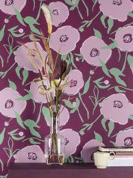Papel pintado Kanoko violeta pastel