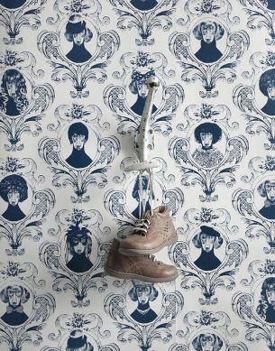 Wallpaper Tillsammans dark blue Room View