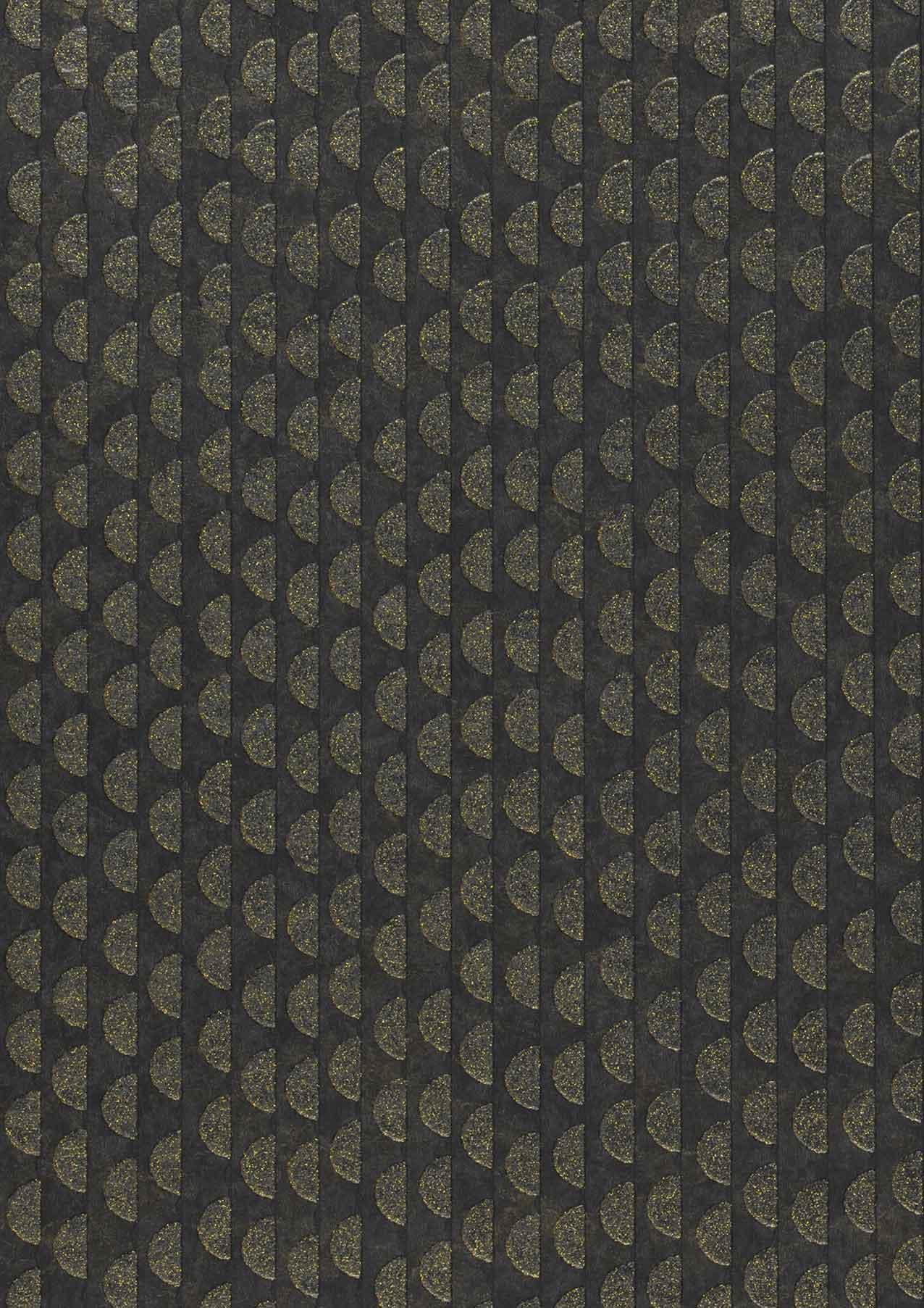 Tapete kelem gold schwarz gold glitzer tapeten der 70er for Tapete gold schwarz