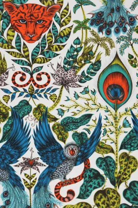 Papel pintado extravagante Papel pintado Jaime azul Detalle A4