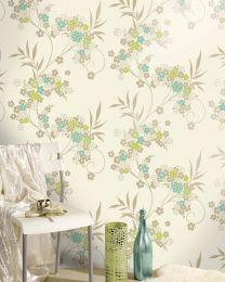 Wallpaper Joyce light green