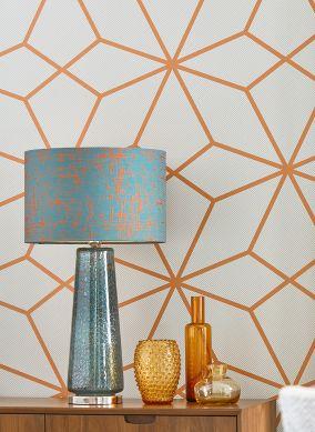 Wallpaper Kamolee orange brown Room View