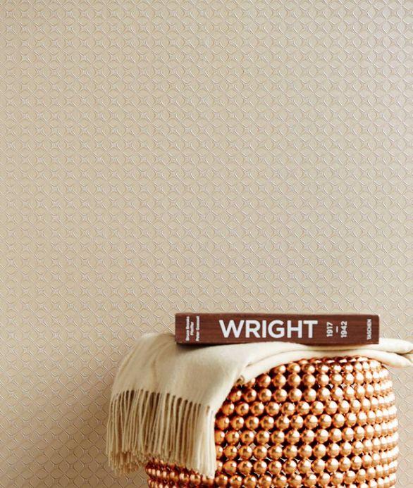 Papier peint pour la salle de bain Papier peint Korsal brun beige clair Vue pièce