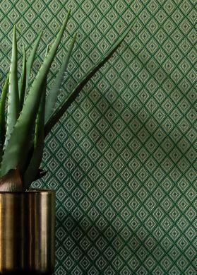Papel de parede Calaluna verde Raumansicht