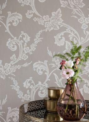 Papel pintado Antonetti gris claro Ver habitación