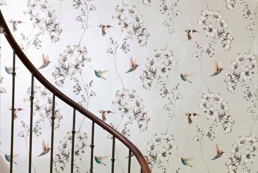 Wallpaper Gesine cream shimmer Room View
