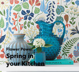 kitchen wallpaper whetting the appetite| trend wall décor for kitchens