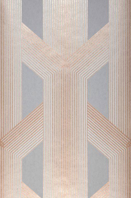 Carta da parati geometrica Carta da parati Nama grigio Larghezza rotolo
