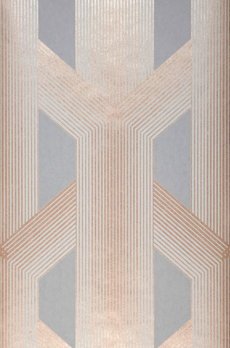 Geometric Wallpaper Wallpaper Nama grey Roll Width