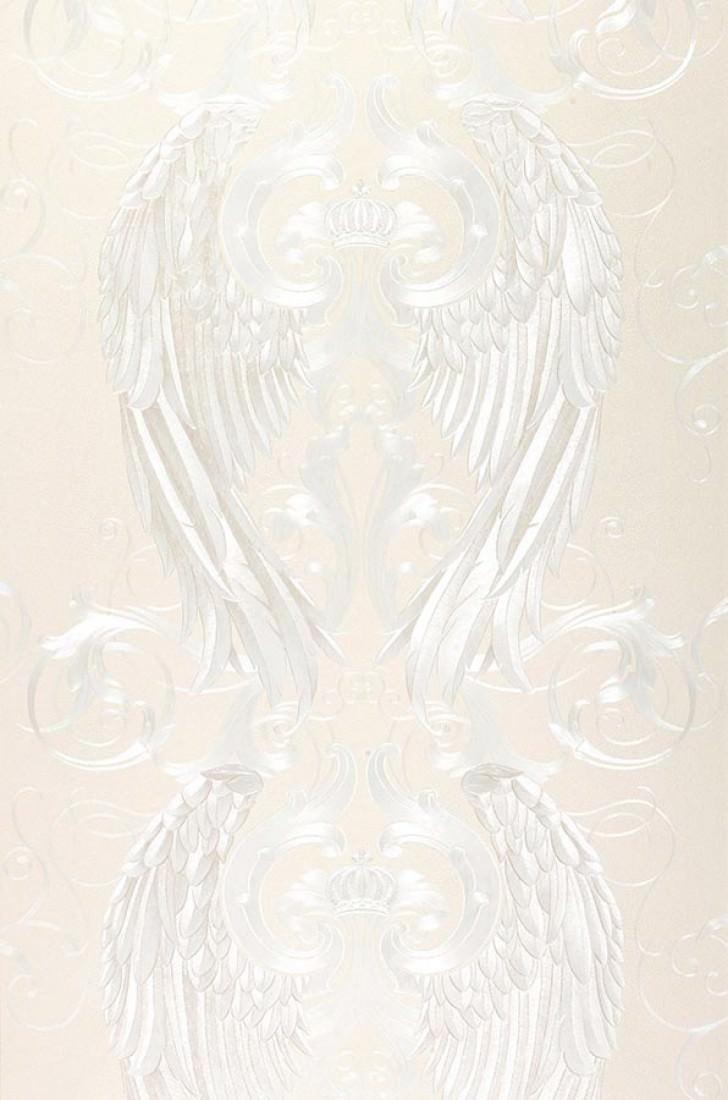 papier peint morrigan blanc cr me papier peint des. Black Bedroom Furniture Sets. Home Design Ideas
