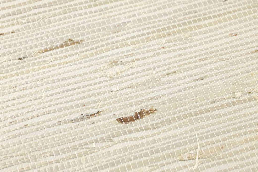 Papier peint naturel Papier peint Grasscloth 02 ivoire clair Vue détail
