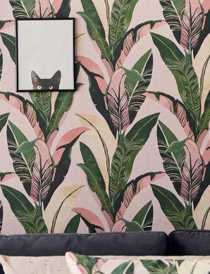 Papel pintado Lasita rosa viejo Ver habitación