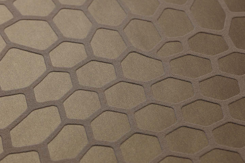 tapete pusan goldbraun blassbraun tapeten der 70er. Black Bedroom Furniture Sets. Home Design Ideas