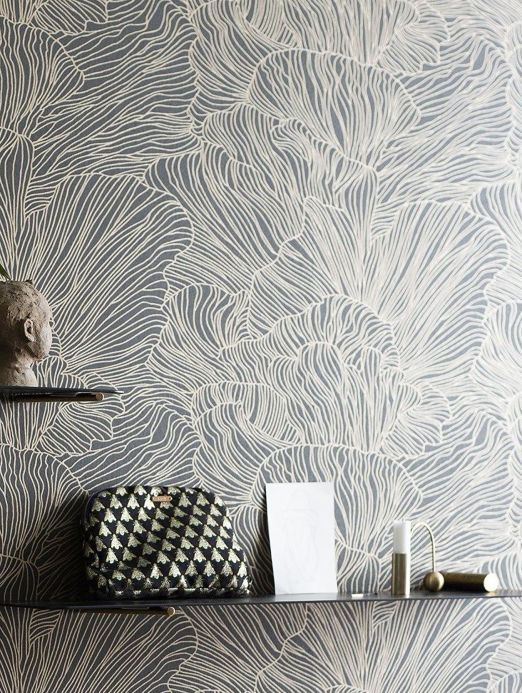 Ferm Living Wallpaper Wallpaper Coral umbra grey Room View