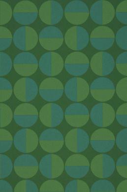 Papier peint Wahida vert Détail A4