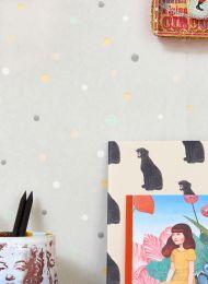 Papel de parede Stardust cinza claro