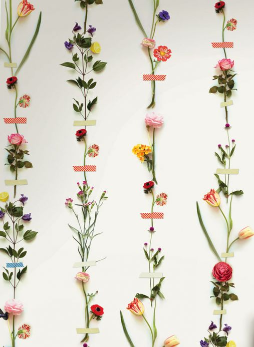 Floral Wallpaper Wall mural Kaschku multi-coloured Detail View