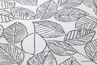 Wallpaper Zilan Matt Leaves White Anthracite