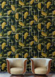 Papel de parede Genevieve amarelo caril