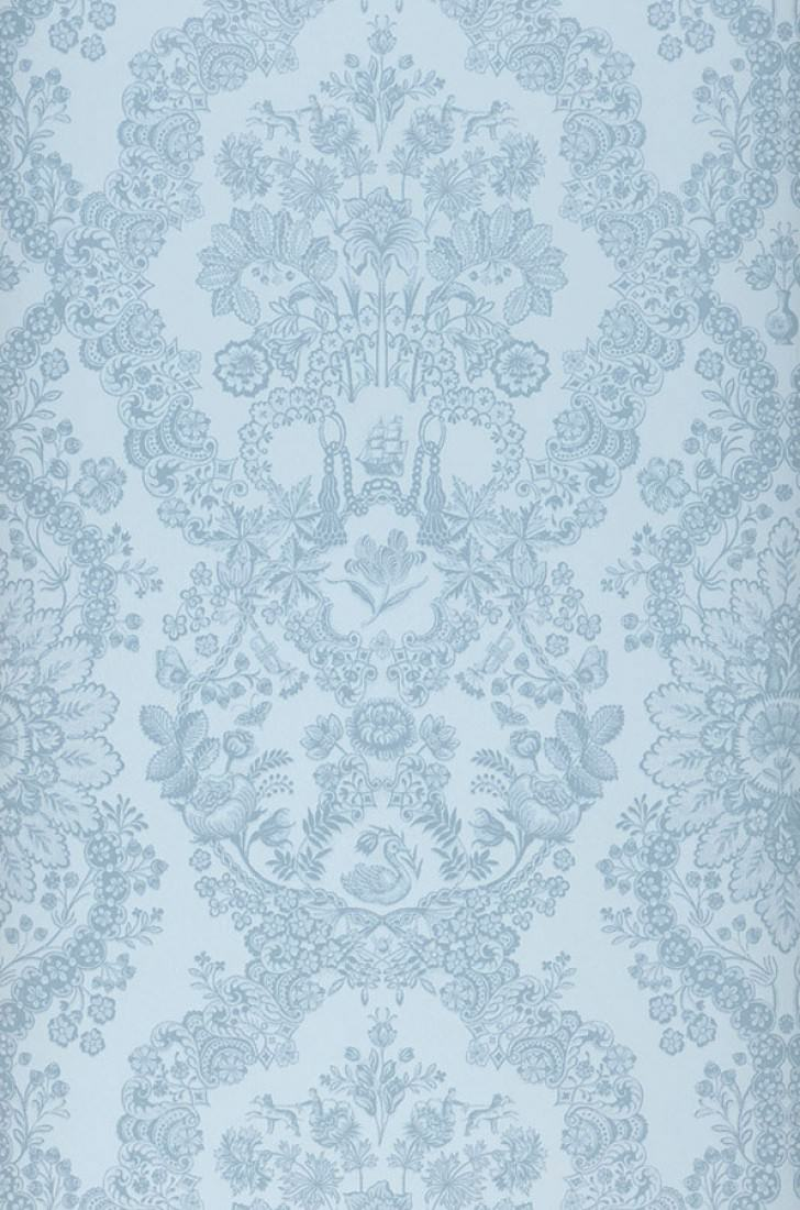 Wallpaper Nuria Pale Blue Pastel Blue Wallpaper From The 70s