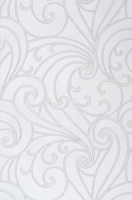 Wallpaper Telamon Shimmering Baroque elements Cream Light ivory Silver