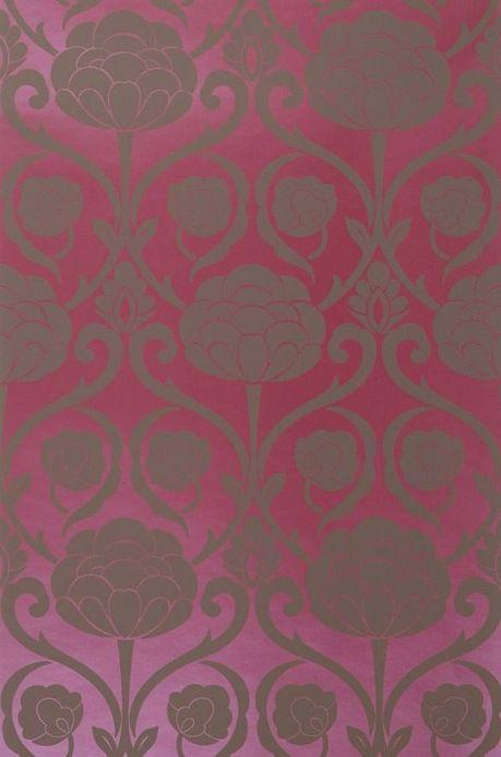 Archiv Carta da parati Damkina viola rosso metallico Larghezza rotolo