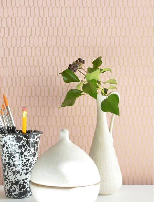 Archiv Wallpaper Ginza light pink Room View