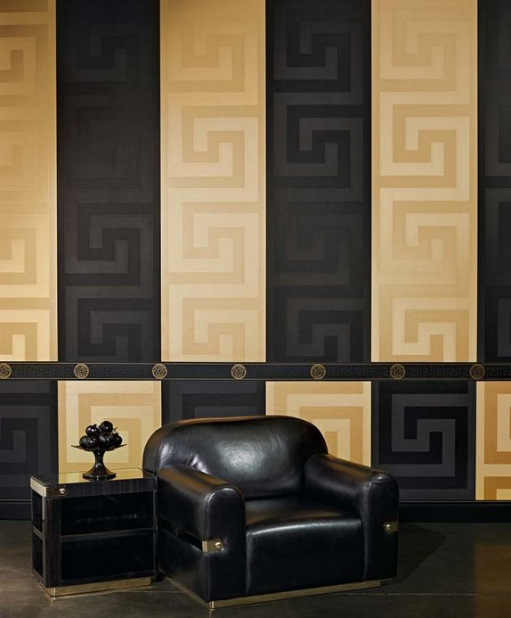 Versace Wallpaper Wallpaper Solea black Room View