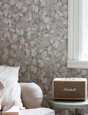 Wallpaper Hedera light grey Raumansicht