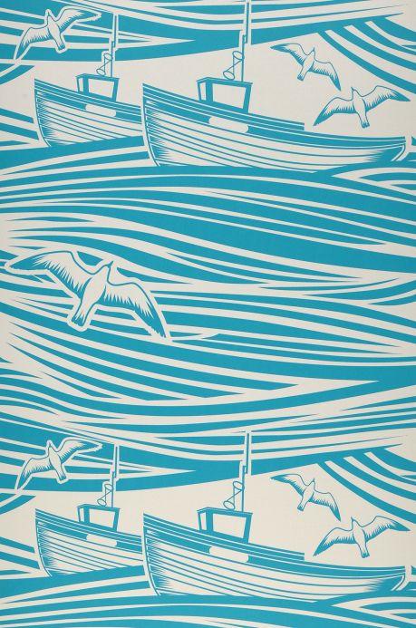 Romantische Tapeten Tapete Ulysses Wasserblau Bahnbreite