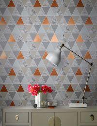 Wallpaper Zento copper shimmer